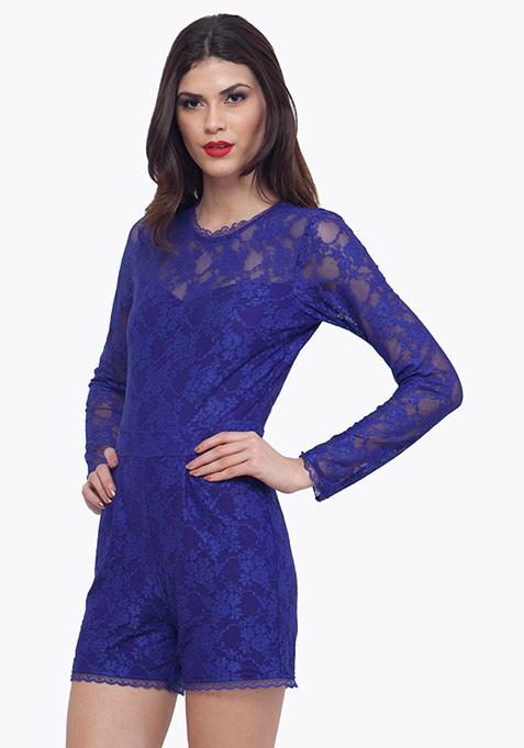 Blue Lace Playsuit