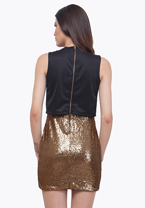 Crop Cool Bodycon Dress - Copper