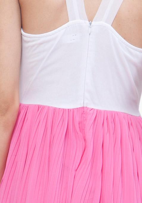 Color Block Maxi Dress - Pink