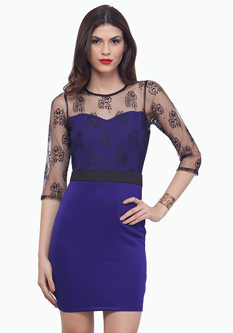 Lace Overture Dress - Blue