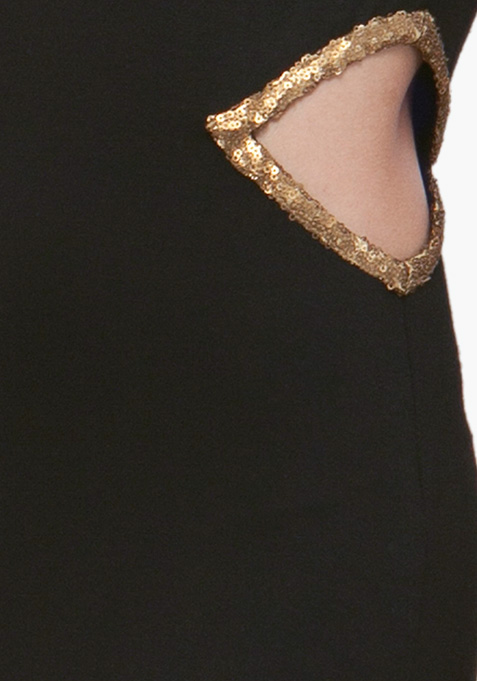 Sequin Stash Maxi Dress - Black