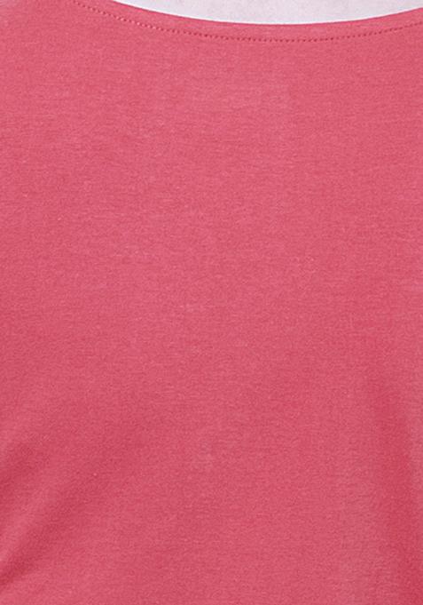 BASICS Flare Jersey Midi Dress - Coral