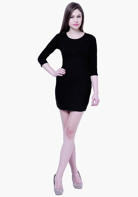 BASICS Pep-Up Black T-Shirt Dress