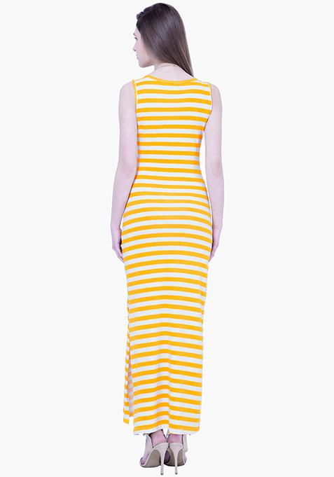 BASICS Striped Maxi Dress - Yellow