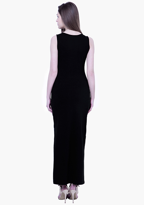 BASICS Black Jazz Maxi Dress