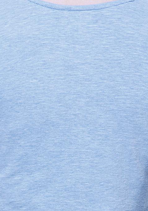 BASICS Blue Slub Skater Dress