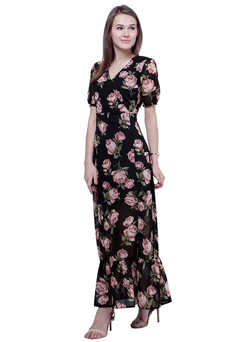 Boho Chic Maxi Dress - Rose Bliss