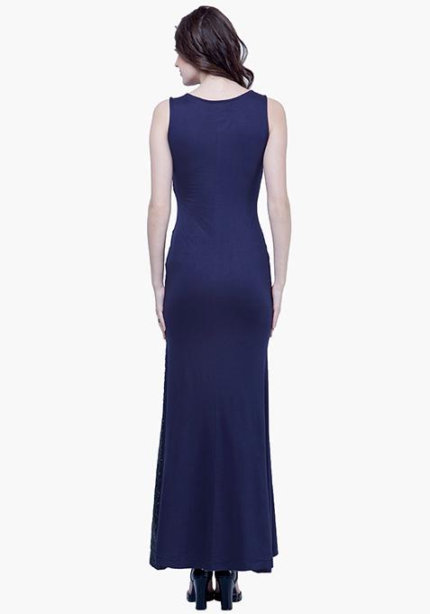 Sequin Siren Maxi Dress - Navy