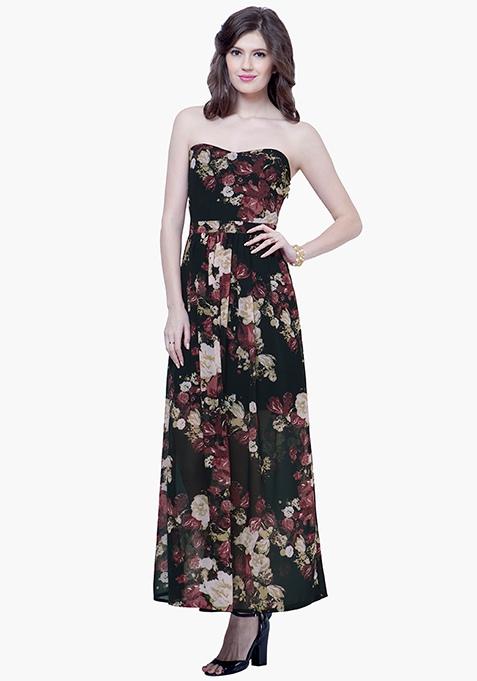 Strapless Maxi Dress - Dusk Floral