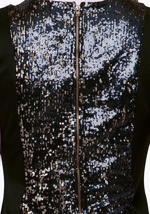 Glitter Glam Mini Dress - Black
