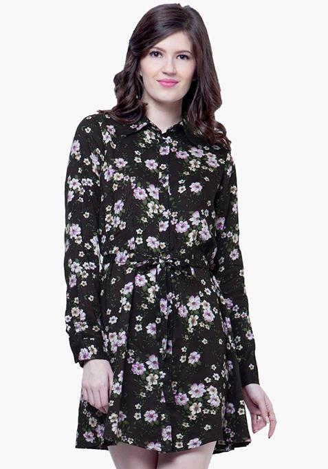 Floral Fun Shirt Dress