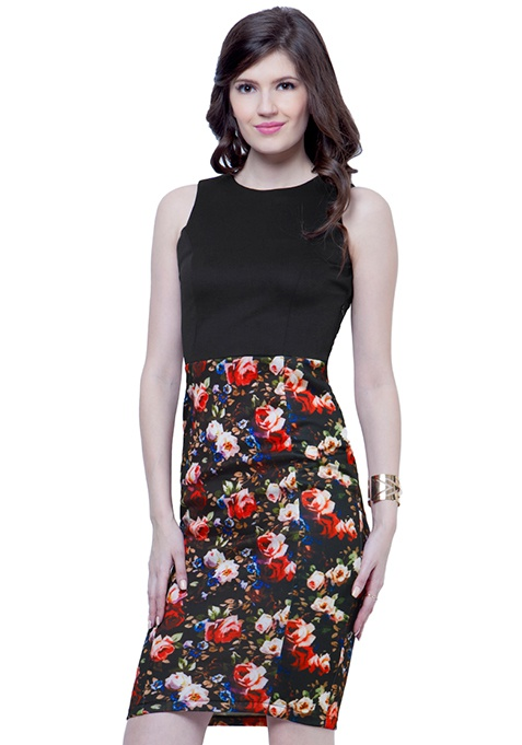 Chic Duo Midi Dress - Floral