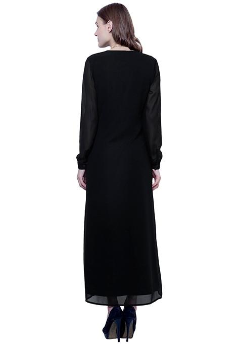 Maxi Shirt Dress - Black