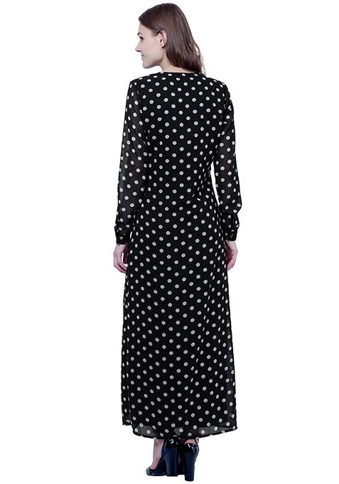 Maxi Shirt Dress - Polka