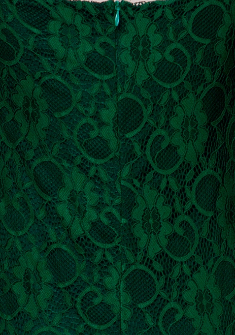 Emerald Lace Bodycon Dress