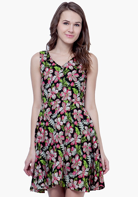 Summer Blooms Skater Dress