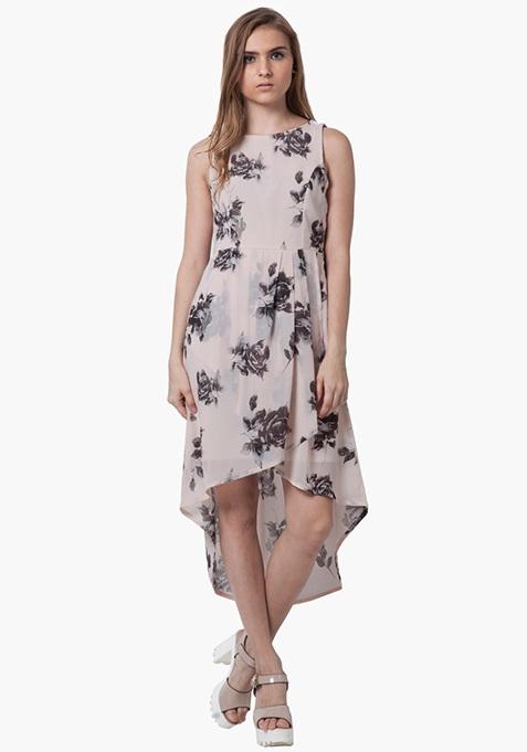 High-Low Maxi Dress - Fall Floral