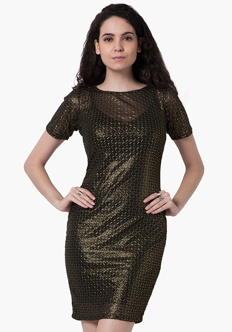 Glitterati Mini Dress - Black
