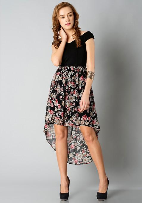 Bardot High-Low Dress - Floral