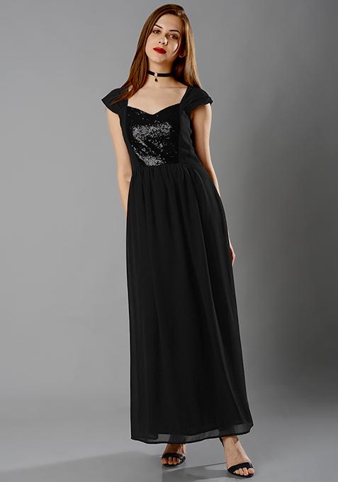 Ball Gown Dress - Black