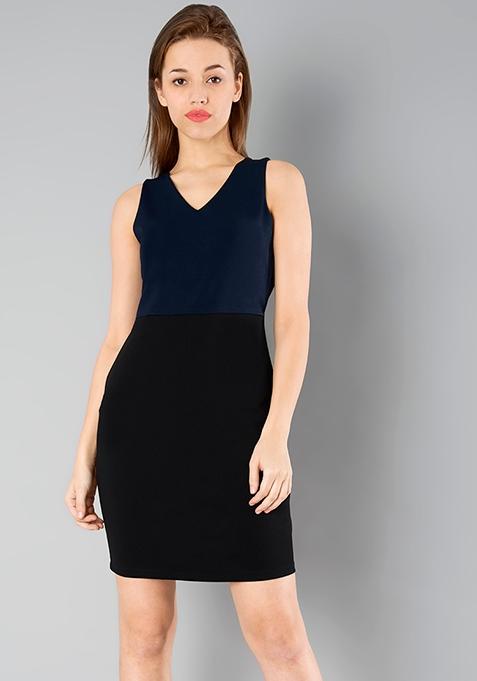 CLASSICS Bodycon Dress - Navy Black