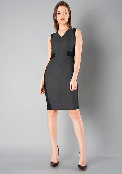 CLASSICS Panel Sheath Dress - Grey