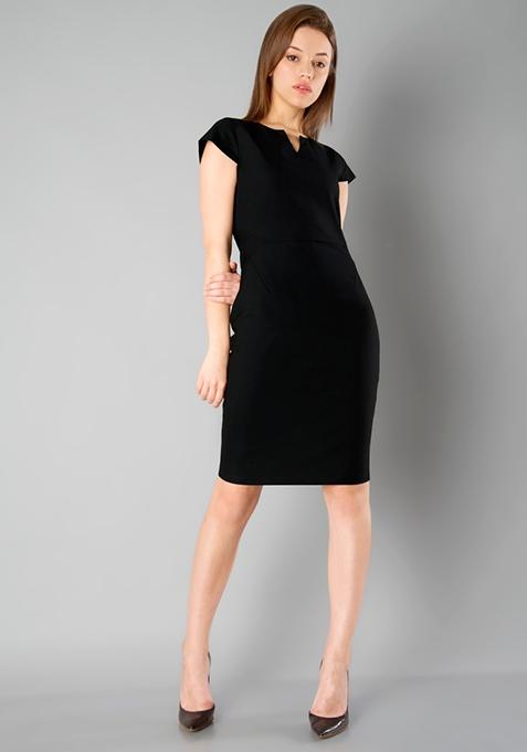 CLASSICS Formal Sheath Dress - Black