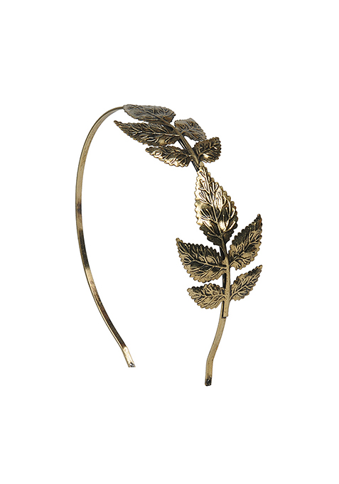 Bronze Leaves Hair Band