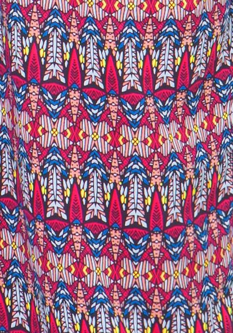 Straight Palazzo Trousers - Tribal
