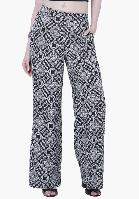 Straight Palazzo Trousers - Baroque