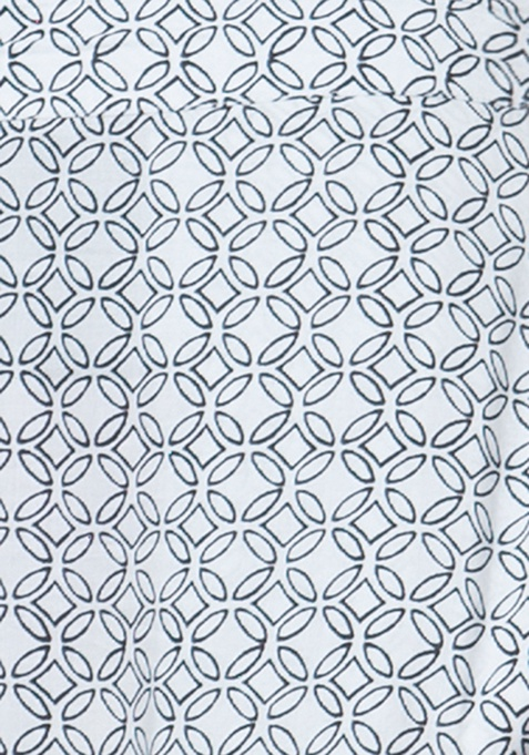Straight Palazzo Trousers - Geometric
