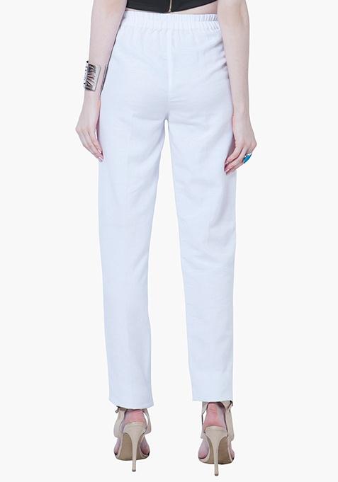 Cigarette Pants - White