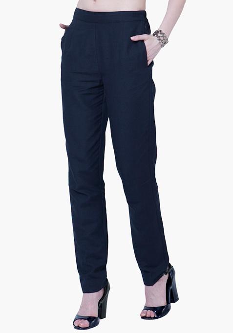 Cigarette Pants - Navy