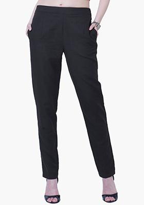 Cigarette Pants - Black