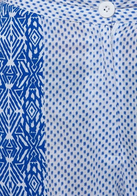 Dual Print Palazzos - Blue