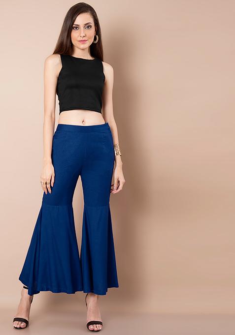Sharara Pants - Cobalt Blue