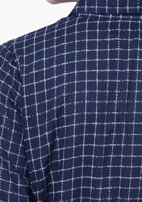 Checkered Haze Shirt Tunic