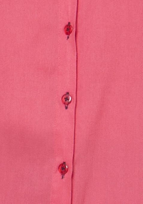 Button Down Tunic - Coral