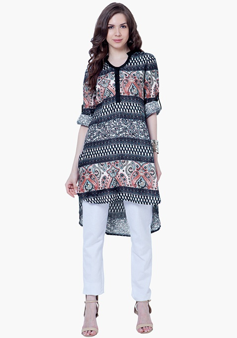 Paisley Bell Sleeve Tunic