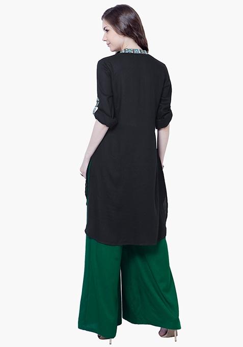 Bell Sleeve Tunic Top - Black