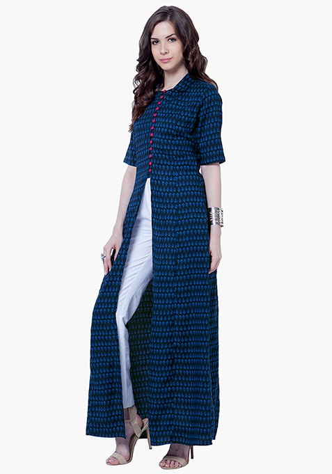 True Elegance Maxi Tunic - Blue