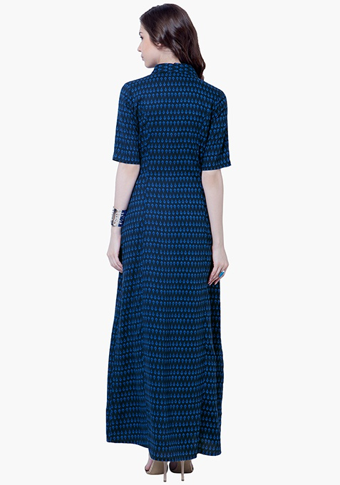 True Elegance Maxi Tunic - Blue