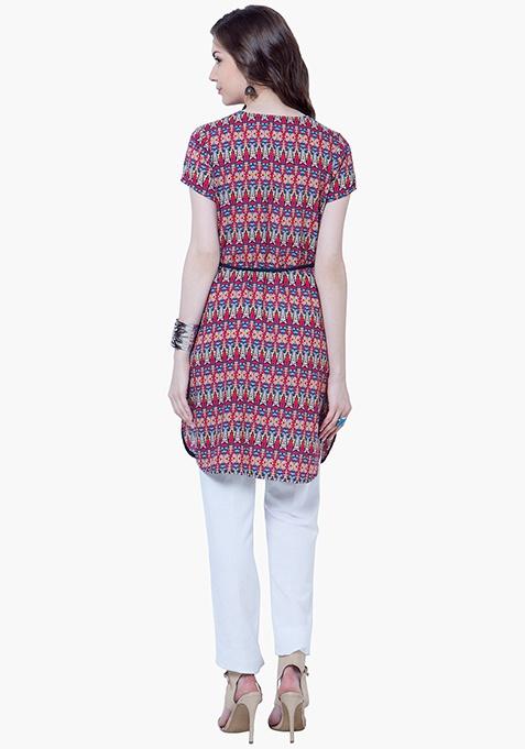 Aztec Amaze Short Tunic Top