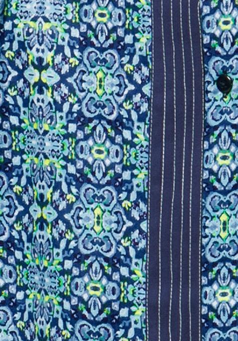 Pintuck Shirt Tunic - Aztec