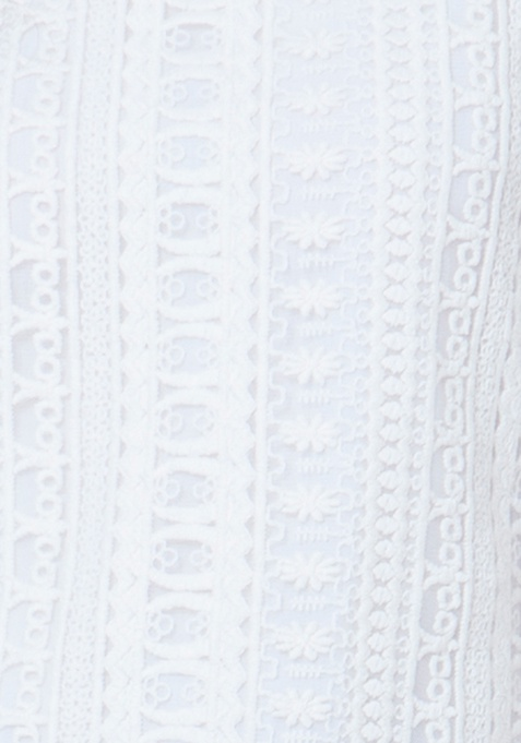 Embroidered Lace Tunic - White