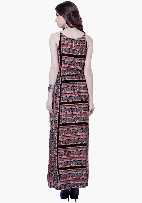 Maxi Slip Tunic Dress - Paisley
