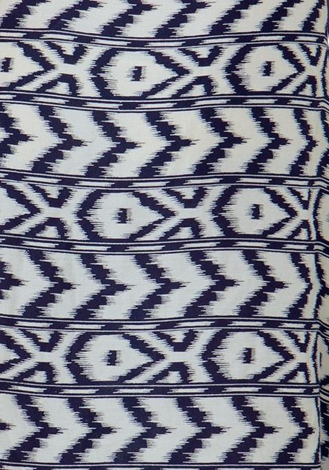 Handkerchief Hem Tunic Dress - Ikat