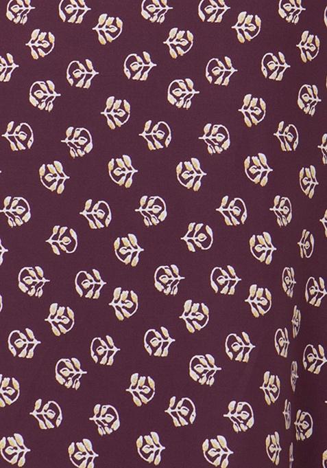 Handkerchief Hem Tunic Dress - Oxblood