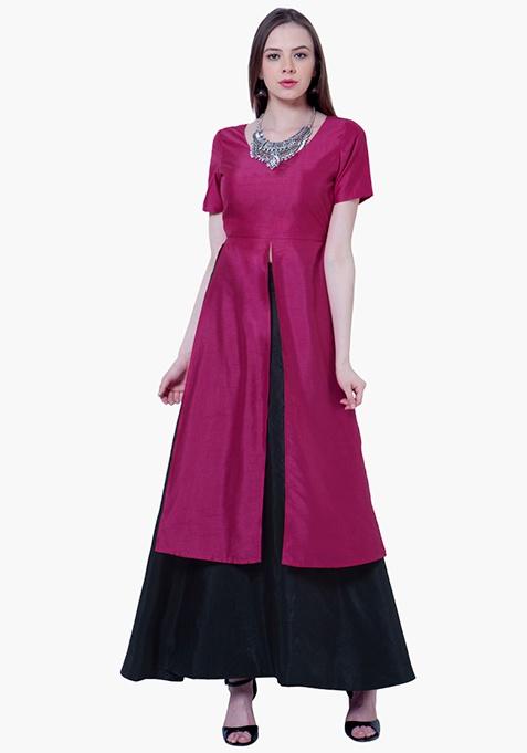 Silk Lush Tunic - Pink