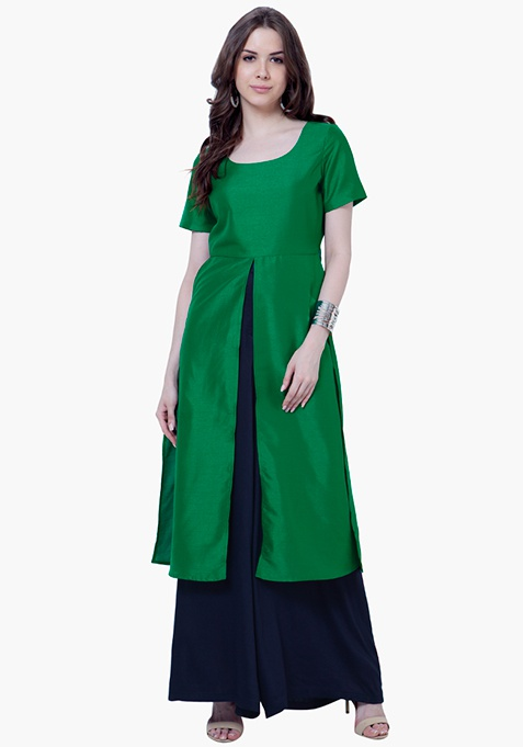 Silk Lush Tunic - Green